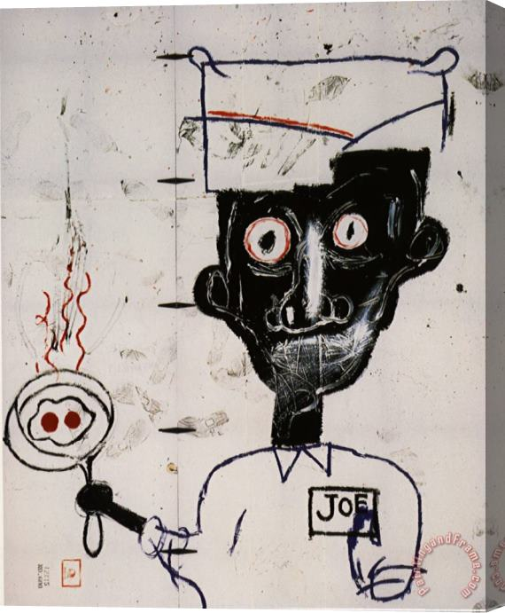 Jean-michel Basquiat Eyes And Eggs Stretched Canvas Print / Canvas Art