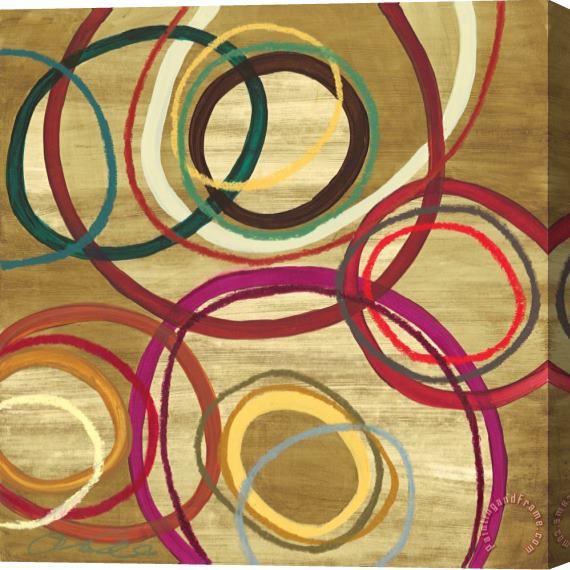 Jeni Lee 21 Tuesday II Bright Circle Abstract Stretched Canvas Print / Canvas Art