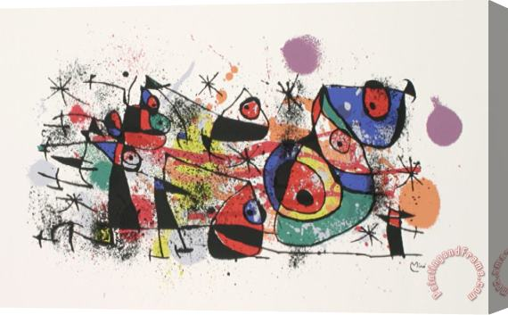 Joan Miro Ceramics Restrike Stretched Canvas Print / Canvas Art