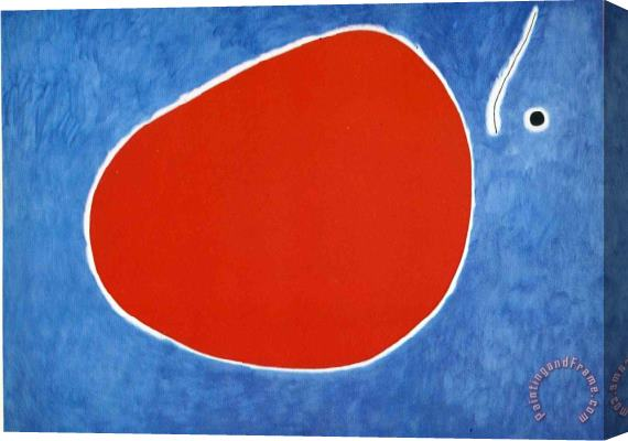 Joan Miro The Flight of The Dragonfly in Front of The Sun Stretched Canvas Print / Canvas Art