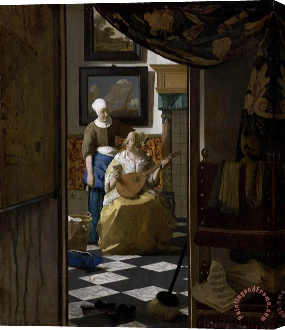 Johannes Vermeer The Love Letter Stretched Canvas Print / Canvas Art