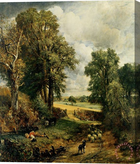 John Constable The Cornfield Stretched Canvas Print / Canvas Art