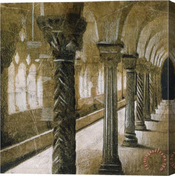 John douglas interior columns stretched canvas print for Interior columns for sale