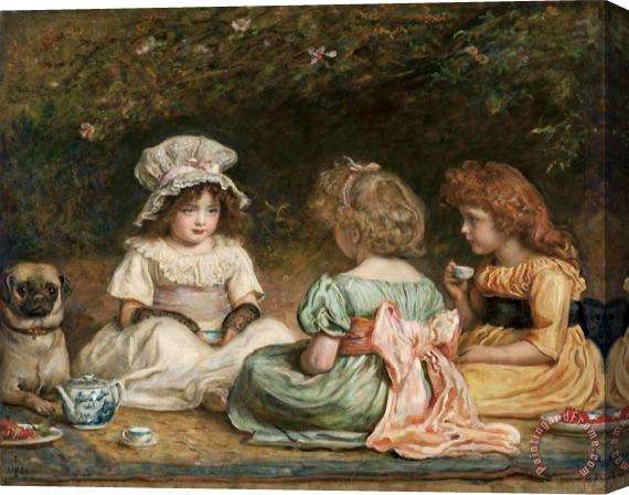 John Everett Millais Afternoon Tea (the Gossips) Stretched Canvas Print / Canvas Art