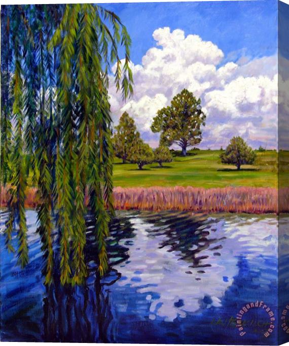John Lautermilch Weeping Willow - Brush Colorado Stretched Canvas Print / Canvas Art