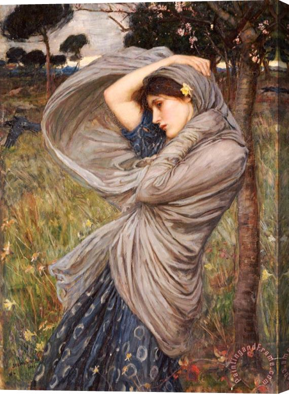 John William Waterhouse Boreas Stretched Canvas Print / Canvas Art