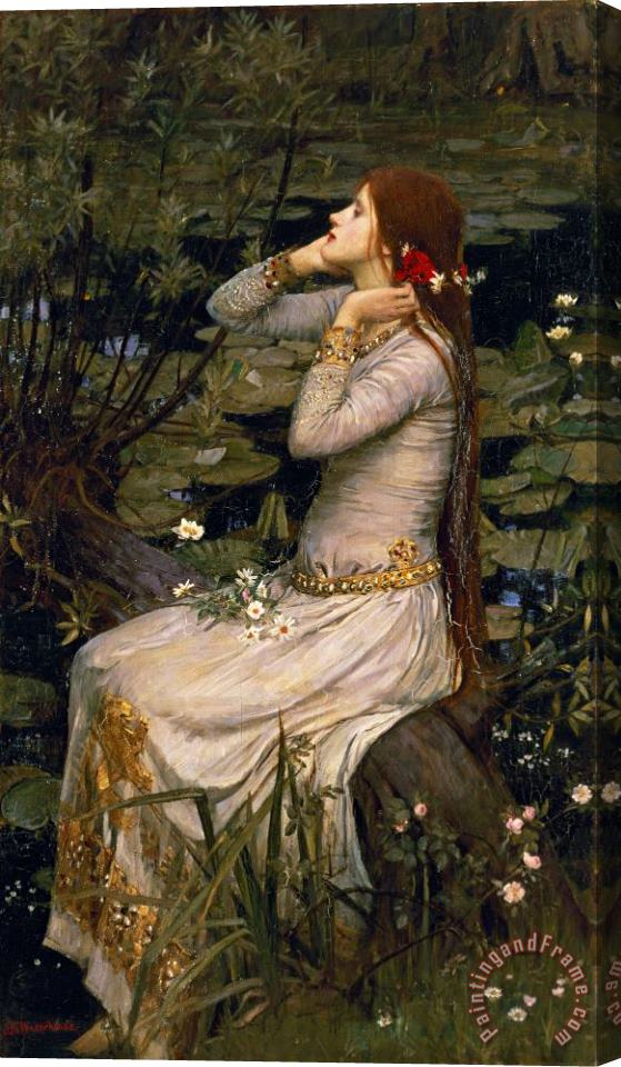 John William Waterhouse Ophelia Stretched Canvas Print / Canvas Art