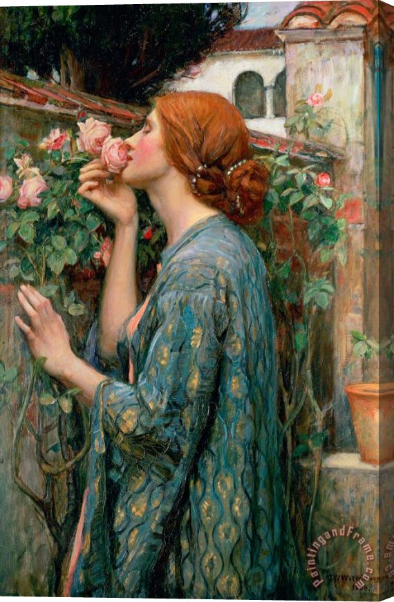 John William Waterhouse The Soul of the Rose Stretched Canvas Print / Canvas Art