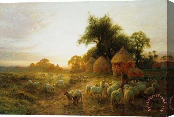 Joseph Farquharson Yon Yellow Sunset Dying in the West Stretched Canvas Print / Canvas Art