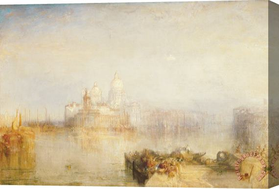 Joseph Mallord William Turner The Dogana and Santa Maria della Salute Venice Stretched Canvas Print / Canvas Art