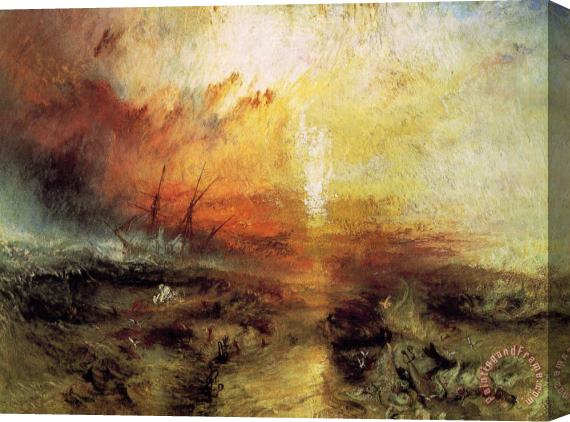 Joseph Mallord William Turner The Slave Ship Stretched Canvas Print / Canvas Art