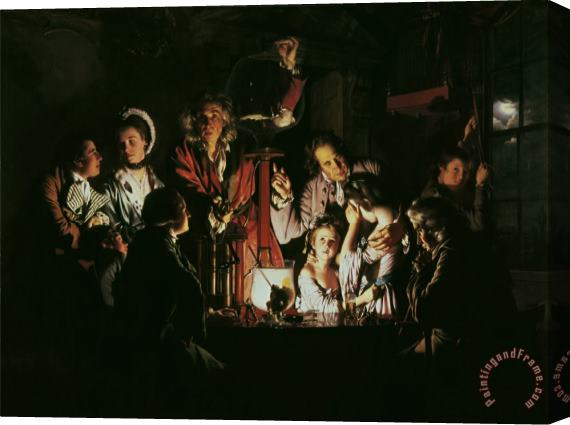 Joseph Wright of Derby An Experiment on a Bird in the Air Pump Stretched Canvas Print / Canvas Art
