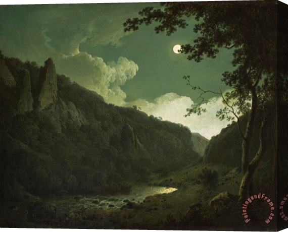 Joseph Wright of Derby Dovedale by Moonlight Stretched Canvas Print / Canvas Art