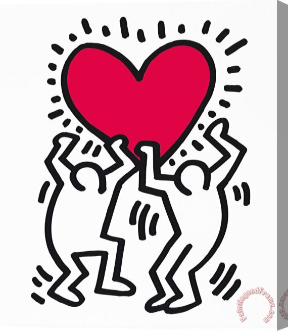 Keith Haring Pop Shop 1988 Stretched Canvas Print / Canvas Art