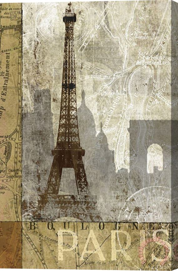 Keith Mallett April in Paris Stretched Canvas Print / Canvas Art