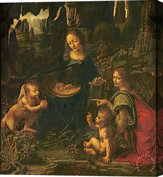 Leonardo da Vinci Madonna Of The Rocks Stretched Canvas Print / Canvas Art
