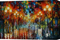 Surreal Canvas Prints - A Date With The Rain by Leonid Afremov