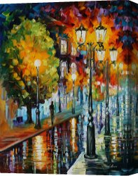 Surreal Canvas Prints - After A Night Rain by Leonid Afremov