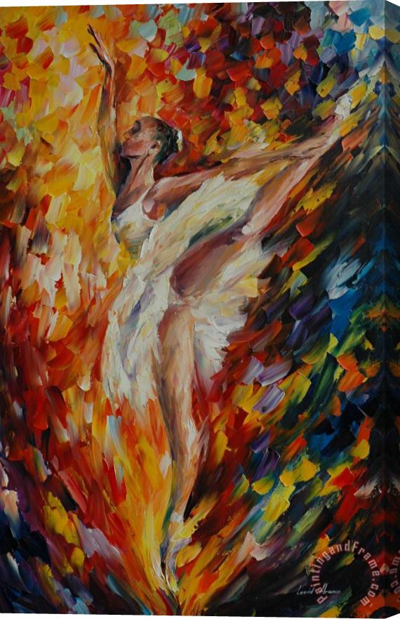Leonid Afremov Ballerina Stretched Canvas Print / Canvas Art