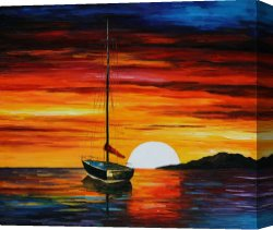 Surreal Canvas Prints - Beautiful Sunset by Leonid Afremov