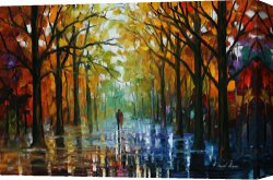 Surreal Canvas Prints - Fall Date by Leonid Afremov