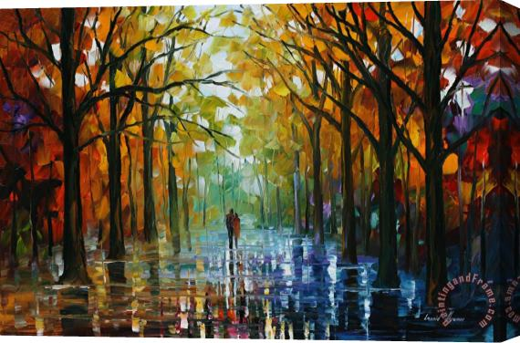 Leonid Afremov Fall Date Stretched Canvas Print / Canvas Art