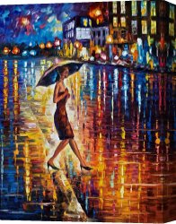 Surreal Canvas Prints - Late Return High Resolution Image by Leonid Afremov