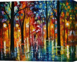 Surreal Canvas Prints - Rain Of Fire by Leonid Afremov