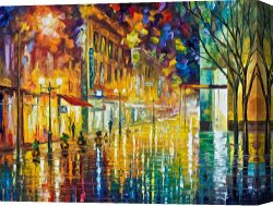 Surreal Canvas Prints - Scent Of Rain High Resolution by Leonid Afremov