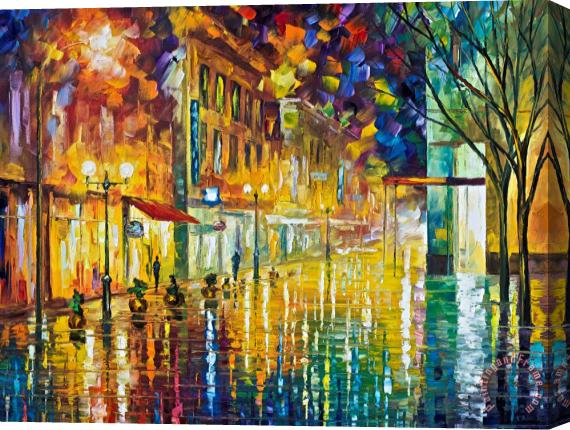 Leonid Afremov Scent Of Rain High Resolution Stretched Canvas Print / Canvas Art