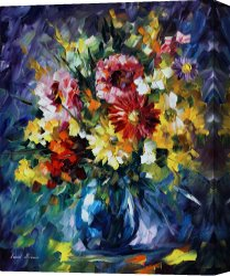 Surreal Canvas Prints - Surreal Flowers by Leonid Afremov