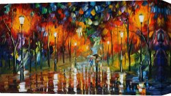 Surreal Canvas Prints - The Scent Of The Rain by Leonid Afremov