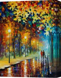 Surreal Canvas Prints - The Warmth Of Friends by Leonid Afremov