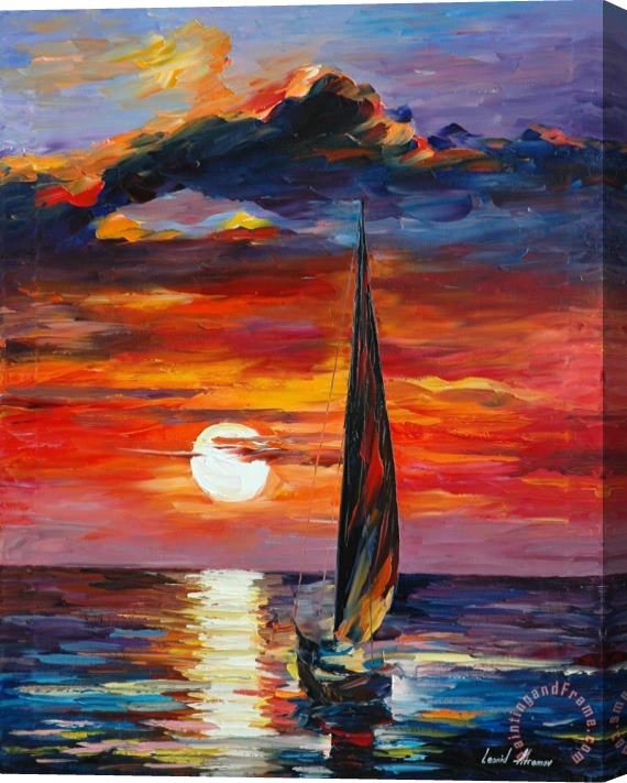 Leonid Afremov Towards The Sun Stretched Canvas Print / Canvas Art