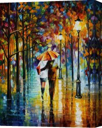 Surreal Canvas Prints - Under the red umbrella by Leonid Afremov