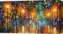 Surreal Canvas Prints - Unexpected Meeting by Leonid Afremov