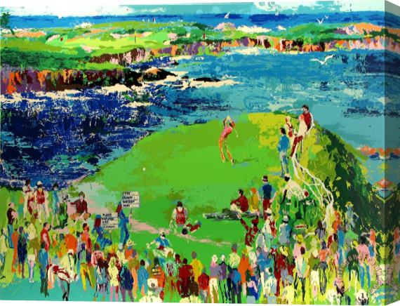 Leroy Neiman 16th at Cypress Stretched Canvas Print / Canvas Art