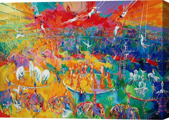 Leroy Neiman Circus Stretched Canvas Print Canvas Art