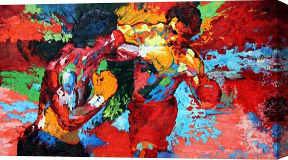 leroy neiman rocky vs apollo stretched canvas print canvas art for