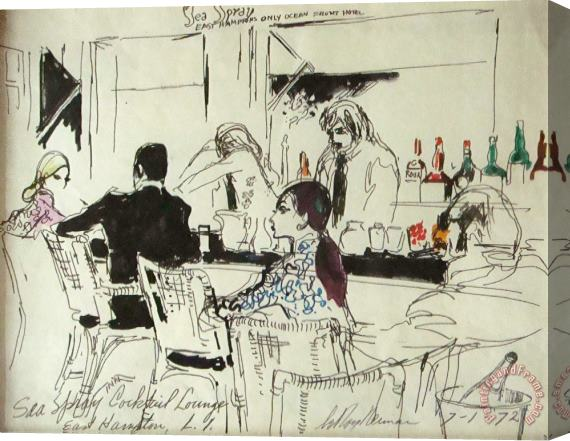 Leroy Neiman Sea Spray Cocktail Lounge Stretched Canvas Print / Canvas Art