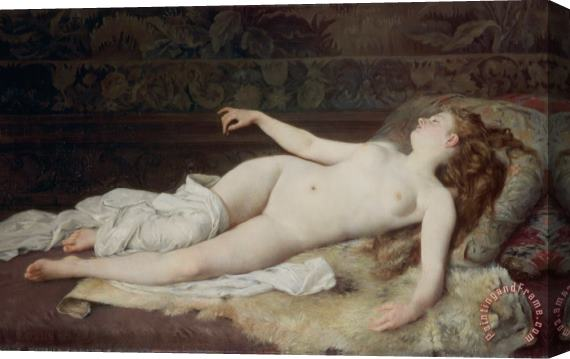 Louis Joseph Raphael Collin Sleep Stretched Canvas Print / Canvas Art