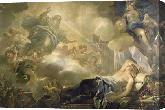 Luca Giordano The Dream of Solomon Stretched Canvas Print / Canvas Art