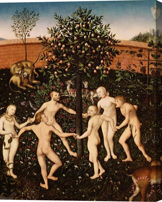 Lucas Cranach The Golden Age Stretched Canvas Print / Canvas Art