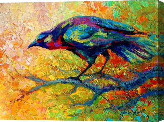 Marion Rose Tree Talk - Crow Stretched Canvas Print / Canvas Art