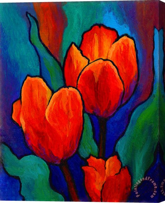 Marion Rose Tulip Trio Stretched Canvas Print / Canvas Art