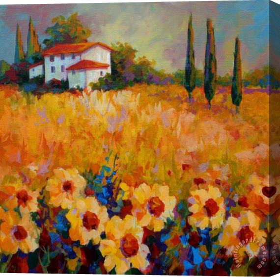 Marion Rose Tuscany Sunflowers Stretched Canvas Print / Canvas Art