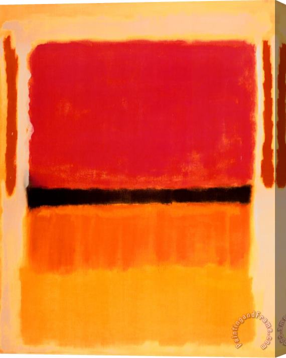 Mark Rothko Untitled Violet Black Orange Yellow on White And Red 1949 Stretched Canvas Print / Canvas Art