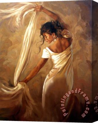 Mark Spain Dance of Satin Stretched Canvas Painting / Canvas Art
