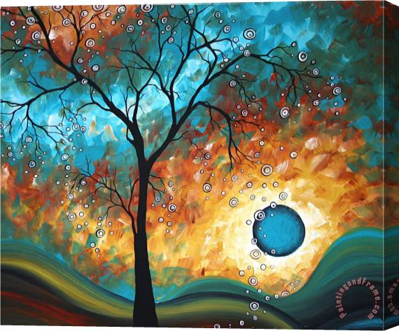 Megan Aroon Duncanson Aqua Burn Stretched Canvas Print / Canvas Art