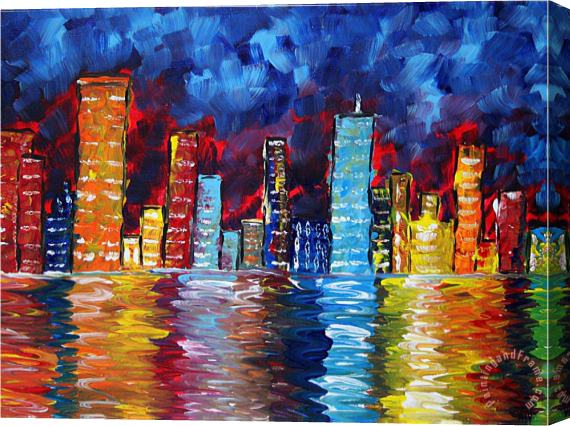 Megan Aroon Duncanson City Nights Stretched Canvas Print / Canvas Art